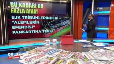 Beşiktaş tribünlerinde tartışmalı pankart