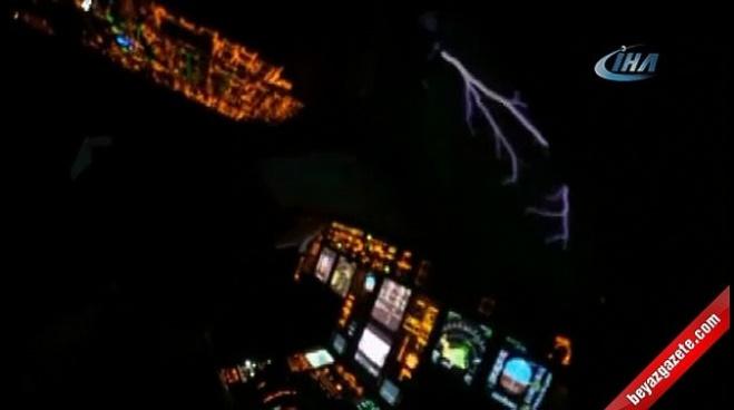 turk hava yollari - Pilot şimşeklerin arasından böyle geçti