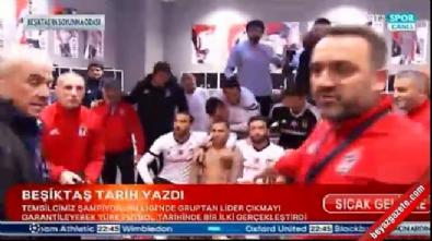 Soyunma odasında Beşiktaş'ın liderlik sevinci