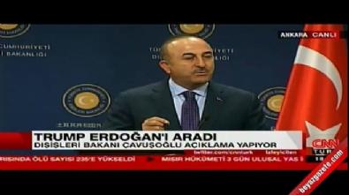Çavuşoğlu: Trump, YPG'ye silah verilmeyecek dedi