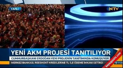 Erdoğan yeni AKM'nin tanıtımında konuştu
