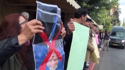 isgal - Amerikan Kültür Merkezi önünde protesto - KUDÜS