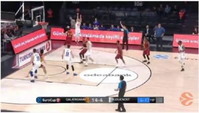 Galatasaray Odeabank - Buducnost VOLI: 82-61 Basketbol Maç Özeti