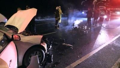 Sürücüsü ters yöne giren otomobil motosikletle çarpıştı - AYDIN