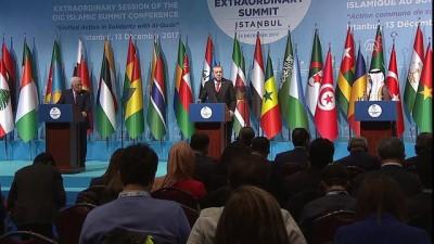 Cumhurbaşkanı Erdoğan: 'İİT üyesi ülkelerin tamamı Kudüs'ün kutsiyetini ve tarihi statüsünü müdafaa etmeye kararlıdır' - İSTANBUL