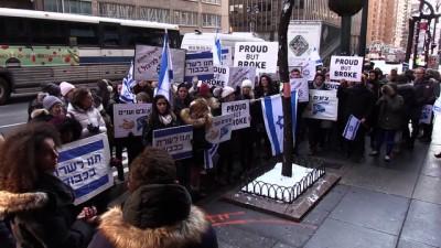 İsrailli konsolosluk çalışanlarından 'maaş' protestosu - NEW YORK