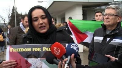Karadağ'da 'Kudüs' protestosu - PODGORİCA