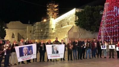 isgal - İsrail'i ziyaret etmesi beklenen Pence, protesto edildi - BEYTÜLLAHİM