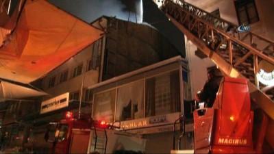 Başkent'te otel çatısında korkutan yangın