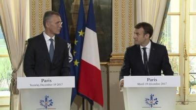 Macron-Stoltenberg görüşmesi - PARİS