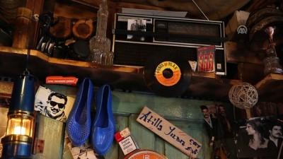 Nostaljik eşyaları 20 metrekarelik çay ocağında sergiliyor - KAYSERİ