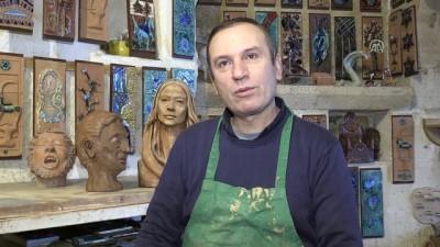 Çanak ustası yaptığı heykellerle dikkati çekiyor - NEVŞEHİR
