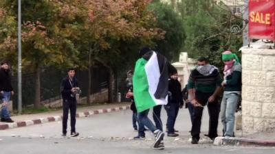 Batı Şeria'daki gösterilere müdahalelerde Filistinli bir genç gözaltına alındı - RAMALLAH
