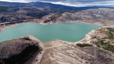 Konya'da baraj ve göletler havadan görüntülendi