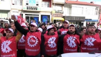 Fabrika işçilerinden yürüyüş - BİLECİK