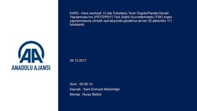 FETÖ'nün TSK yapılanmasına operasyon - KARS