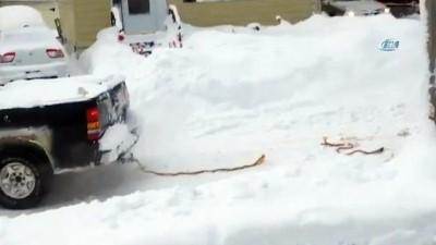 soguk hava dalgasi -  - ABD'de Kar Kalınlığı 1 Metreyi Aştı