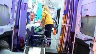 Yolcu otobüs ile ambulans çarpıştı: 6 yaralı
