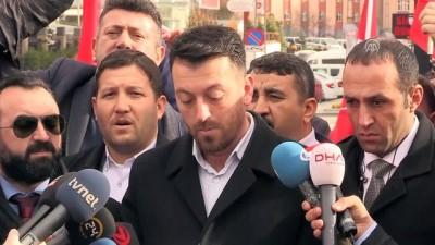 Şehit aileleri CHP'ye siyah çelenk bıraktı - ANKARA