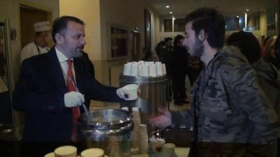 Final haftasında öğrencilere çorba ikramı