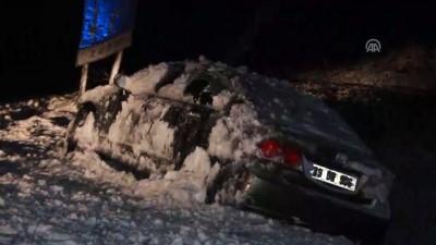 soguk hava dalgasi - Kırklareli'nin yüksek kesimlerindeki yoğun kar yağışı