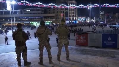 İstanbul'da yılbaşı tedbirleri - Taksim'de güvenlik önlemleri - İSTANBUL