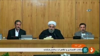 - Ruhani ilk kez konuştu: 'İranlılar, İran hükümetini protesto etmek ve eleştirmekte özgürdürler'