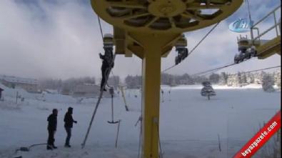 Uludağ'da kar kalınlığı yarım metreye ulaştı