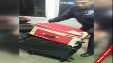 Valiz içinde Türkiye'ye girmeye çalışan kadın böyle yakalandı