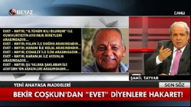 Şamil Tayyar'dan Bekir Coşkun'a sert tepki