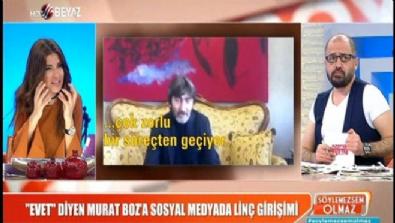 'Evet' diyen Murat Boz'a sosyal medyada linç girişimi