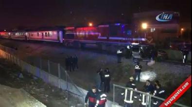 Tren aracı 200 metre sürükledi