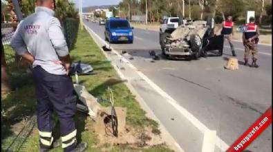 antalya - MHP konvoyunda kaza: 4 yaralı