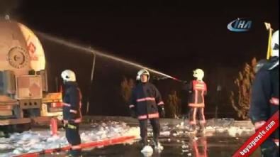 Benzin istasyonunda yangın