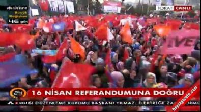 AK Parti'nin Tokat mitinginde ilginç olay