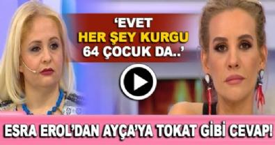 evleneceksen gel - Esra Erol'dan gelin adayı Ayça'ya sert cevap! 'Evet 64 çocuk da kurgu'