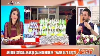 Aniden İstiklal Marşı çalındı herkes ''Hazır ol''a geçti
