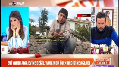 beyaz tv - Evi yandı ama evine değil, yangında ölen kedisine ağladı