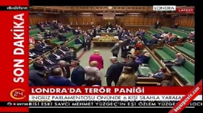 silahli saldiri - İngiltere Parlamentosu'nda silah sesleri
