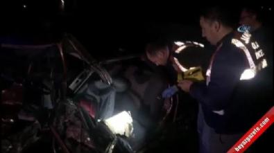Feci kaza: 5 ölü, 4 yaralı! İşte olay yerinden ilk görüntüler