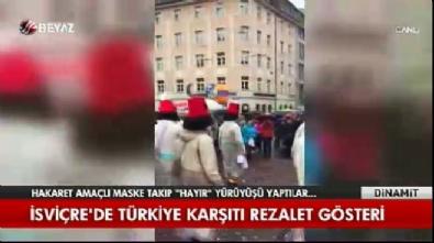 İsviçre'de Türkiye karşıtı rezalet gösteri
