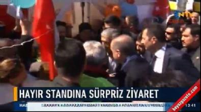 Cumhurbaşkanı Erdoğan 'hayır' çadırını ziyaret etti Haberi