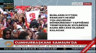 Cumhurbaşkanı Erdoğan Samsun'da konuştu