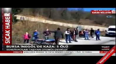 Bursa İnegöl'de korkunç kaza