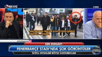 fenerbahce - Yönetimi istifaya davet eden taraftara küfürler savurdular
