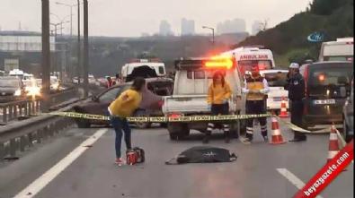 İstanbul'da feci kaza... Üzerinden 3 araç geçti