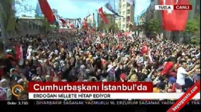 cumhurbaskani - Cumhurbaşkanı Erdoğan Tuzla'da konuştu