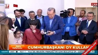 cumhurbaskani - Cumhurbaşkanı Erdoğan oyunu kullandı
