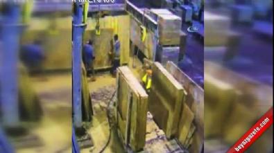 Mermer fabrikasında feci ölüm