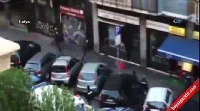 Polis bıçaklı şahsı böyle vurdu